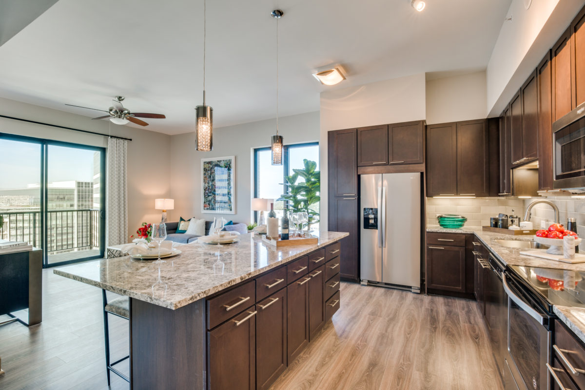 Kitchen Island at The McCarthy Apartments in Memorial City Houston