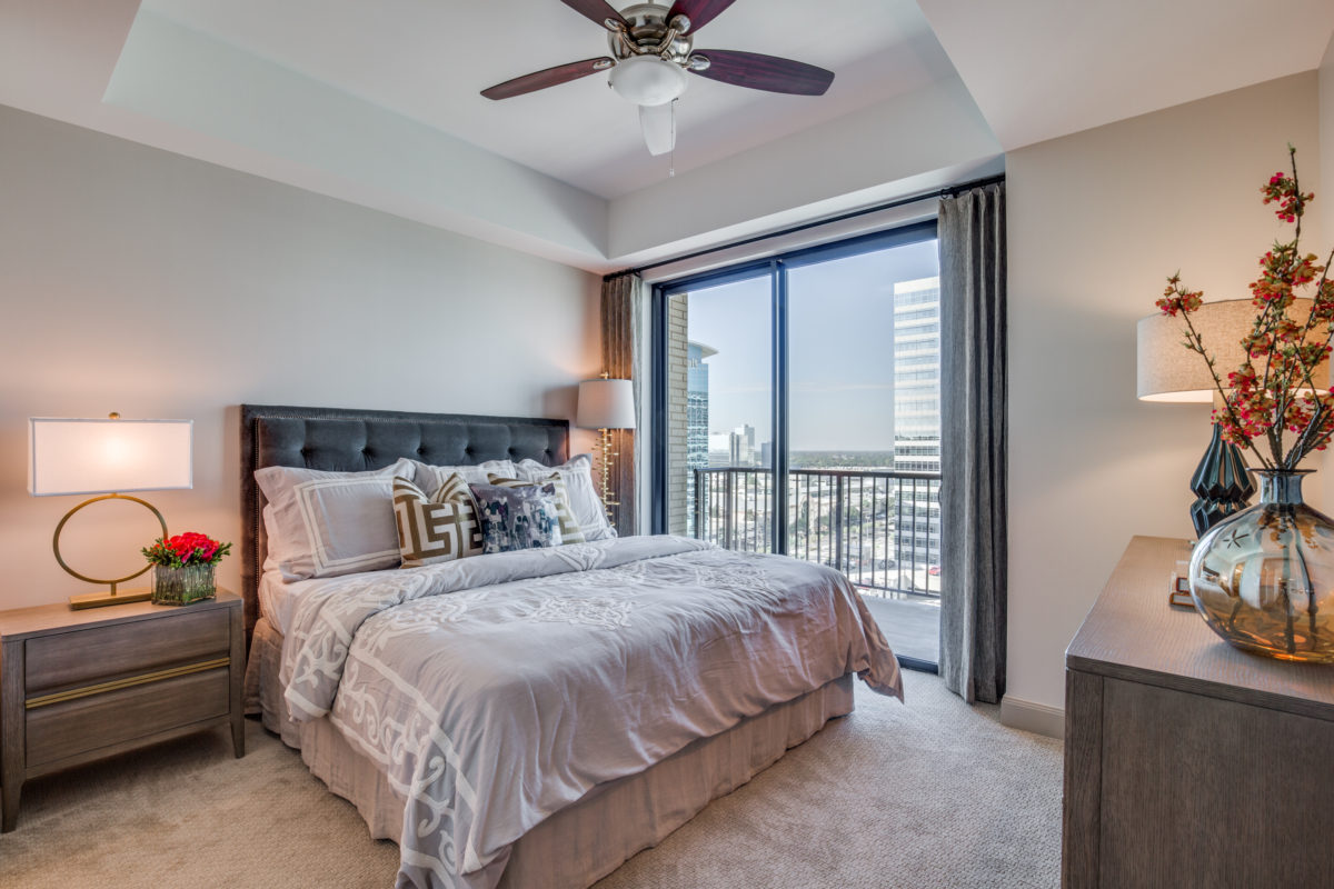Master Bedroom at The McCarthy Apartments in Memorial City Houston
