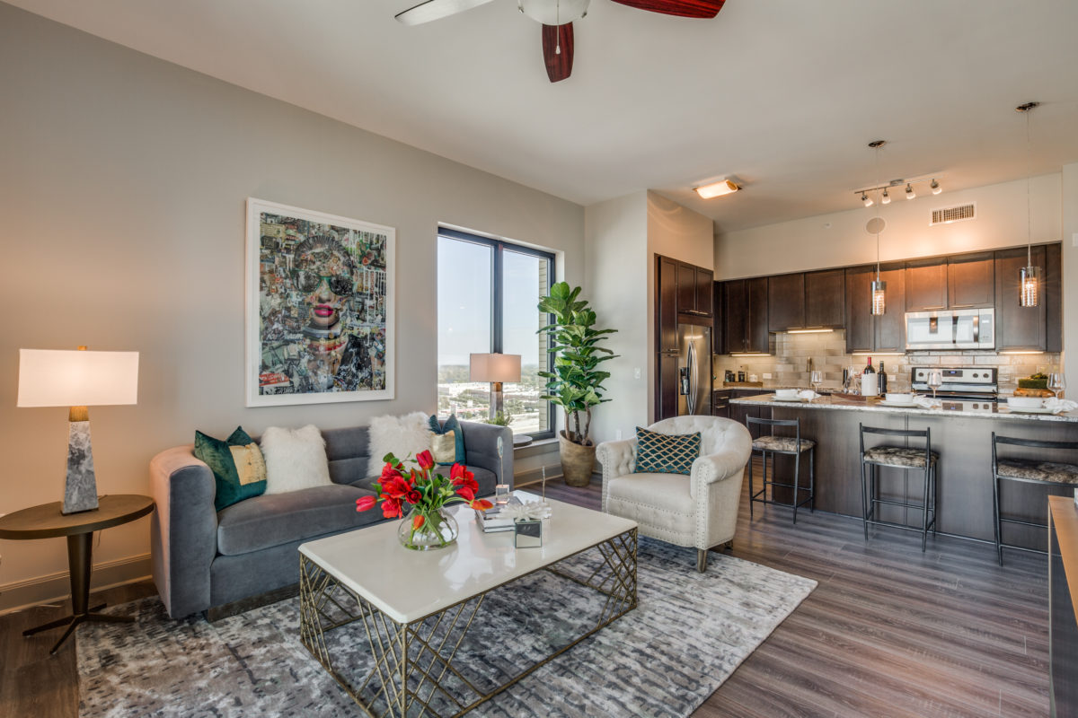 Living Room at The McCarthy Apartments in Memorial City
