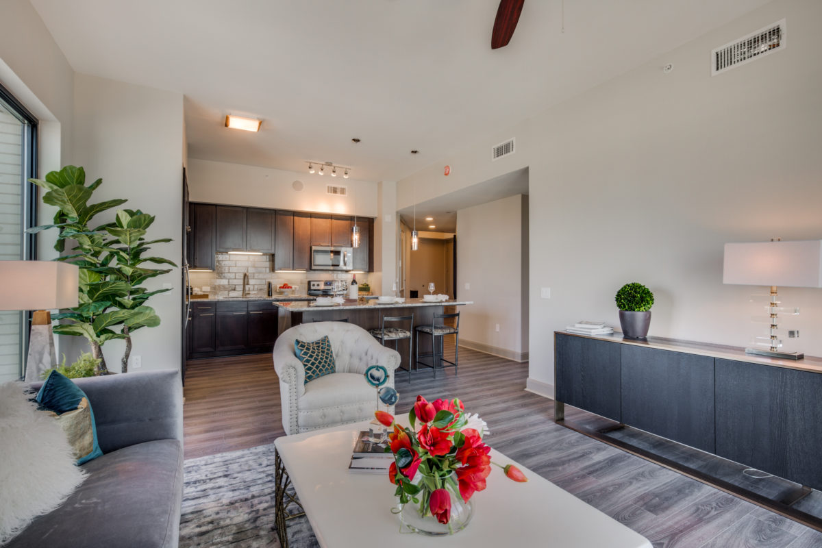 Living Area at The McCarthy Apartments in Memorial City Houston