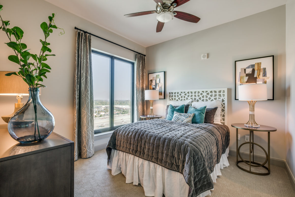 Bedroom at The McCarthy Apartments in Memorial City Houston