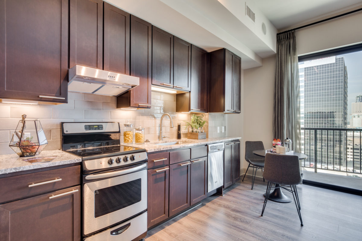 Kitchen Stove at The McCarthy Apartments in Memorial City Houston