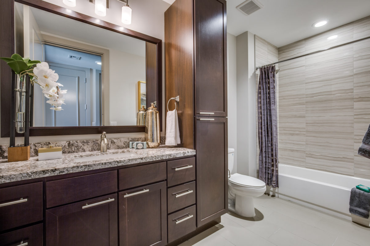 Bathroom at The McCarthy Apartments in Memorial City Houston