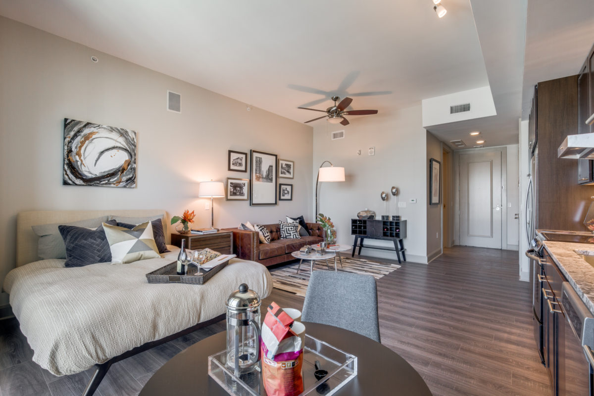 Studio Layout at The McCarthy Apartments in Memorial City