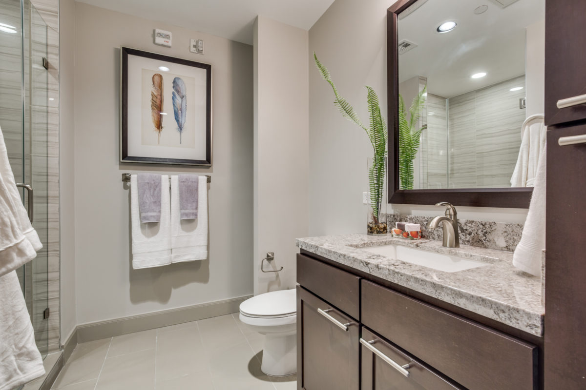 Lavish Bathrooms at The McCarthy Apartments in Memorial City Houston