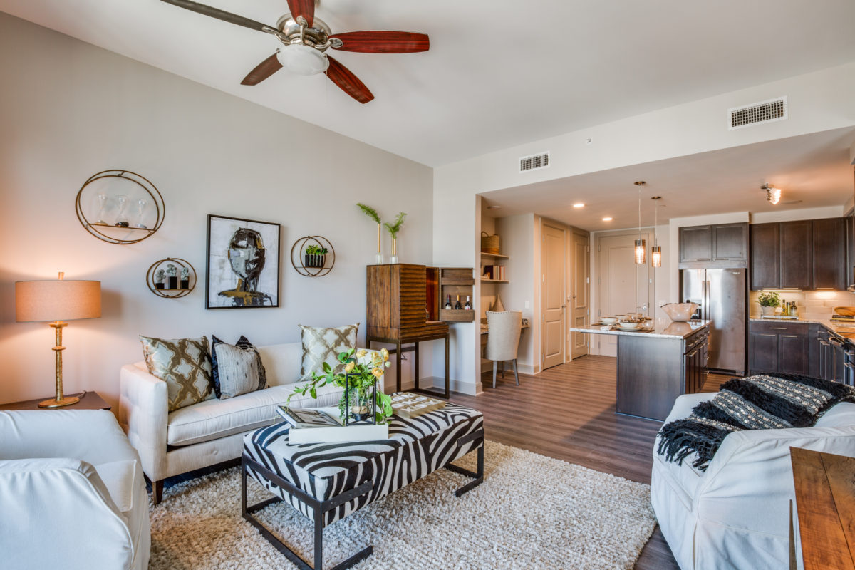 Living Room Seating at The McCarthy Apartments in Memorial City Houston
