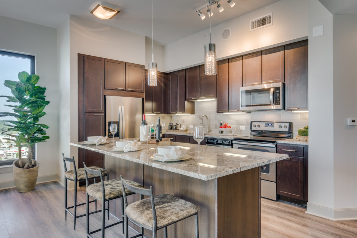 Kitchen at at The McCarthy Apartments in Memorial City Houston