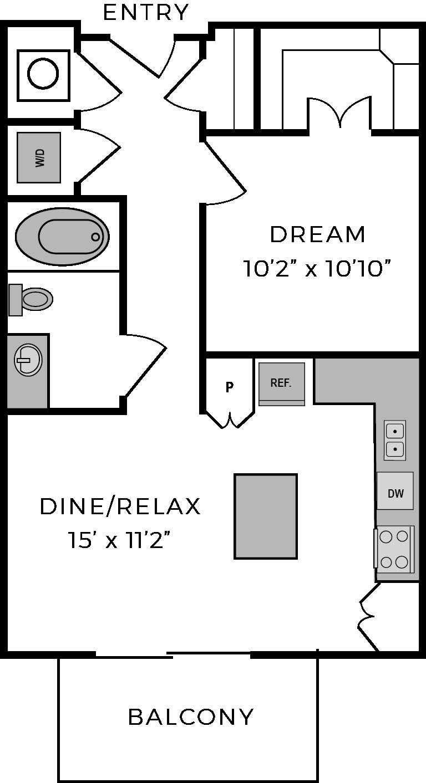 One bedroom luxury apartment The McCarthy Houston