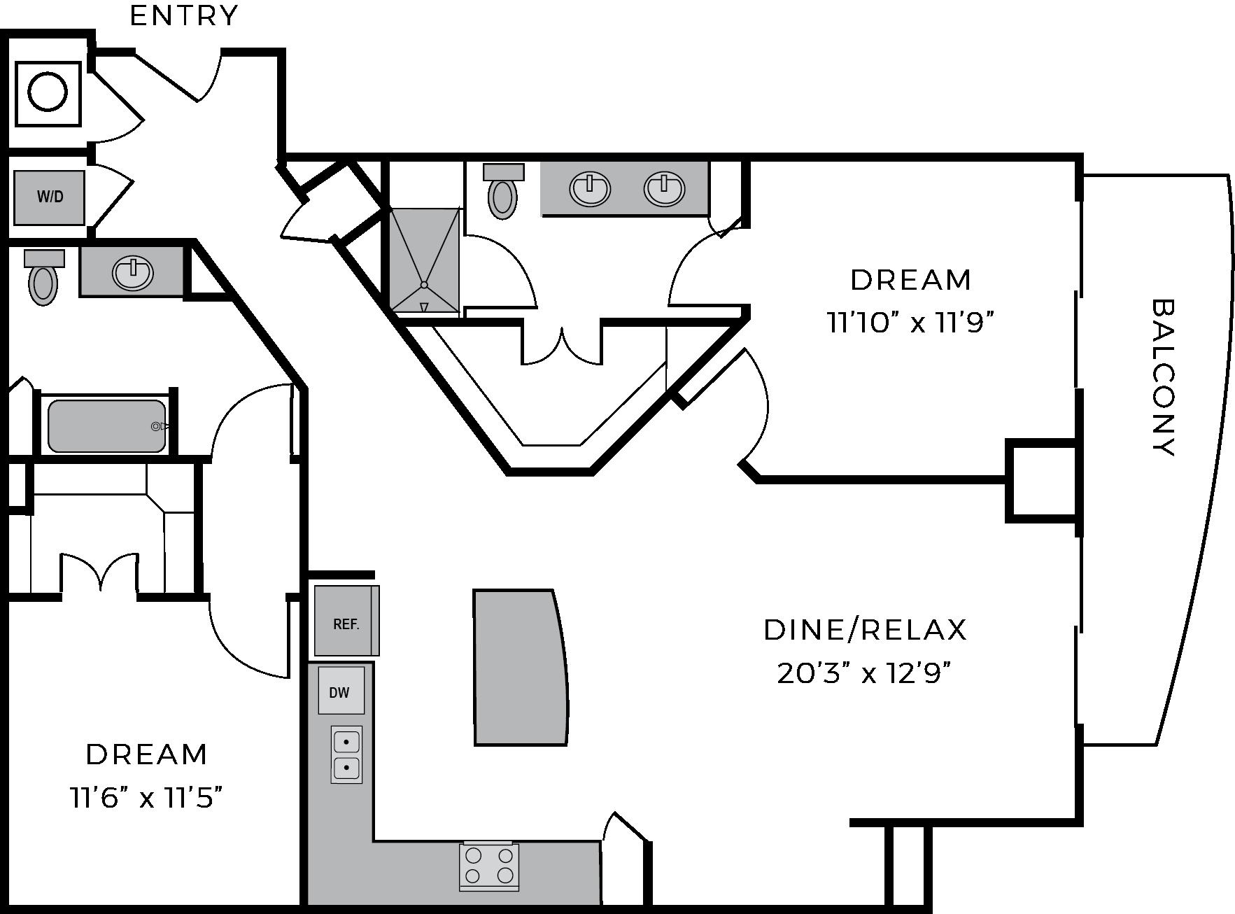 Two bedroom luxury apartment The McCarthy Houston