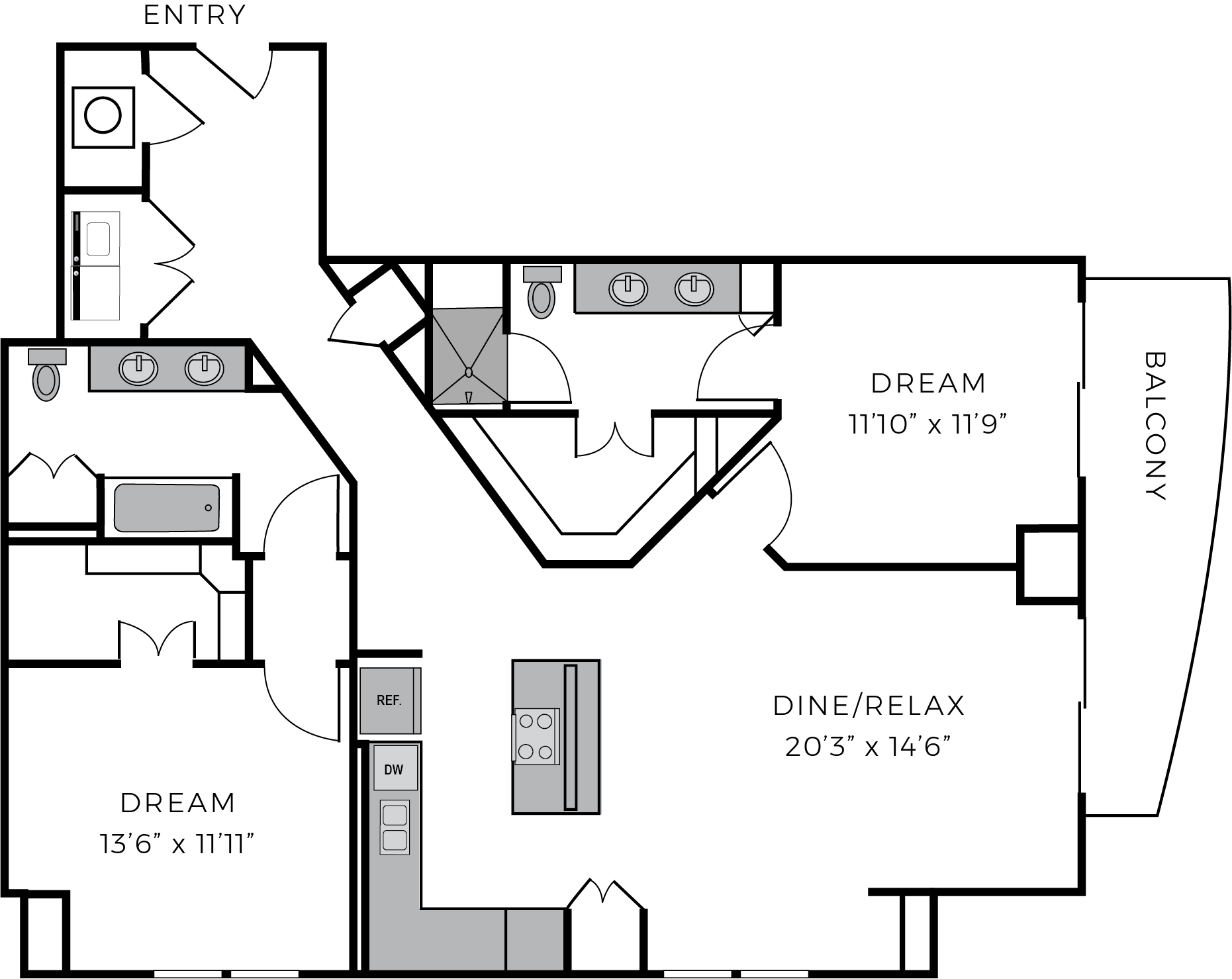 Two bedroom luxury apartment The McCarthy Houston